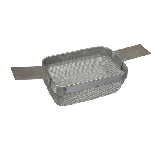 Picture of Fine Mesh Rectangular Ultrasonic Cleaning Basket 4 x 3 x 1 1/2 Inches