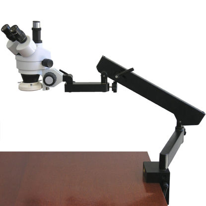 Picture of 7X-45X Trinocular Articulating Zoom Microscope + Ring Light